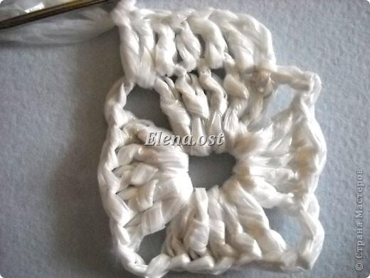 ...Вязание, Вязание крючком: Вязаная сумка из квадратов Материал...