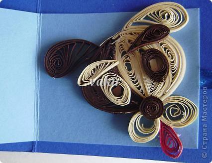 Открытка Квиллинг: Снова открытка с сюрпризом Бумага День рождения. Фото 10