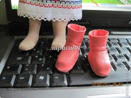 Куклы Шитьё: Наталочка и Петрусь. МК по обуви. Капрон, Ленты, Тесьма, Ткань. Фото 6