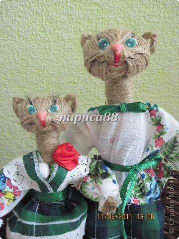 Куклы: Кошечки из шпагата. МК Шпагат. Фото 1