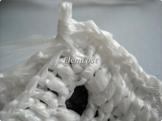 ...Мастер-класс Вязание, Вязание крючком: Вязаная сумка из полиэтилена.