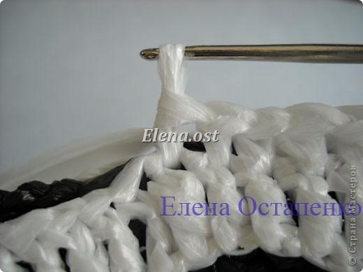 Гардероб, Мастер-класс Вязание, Вязание крючком: Вязаная сумка из полиэтилена