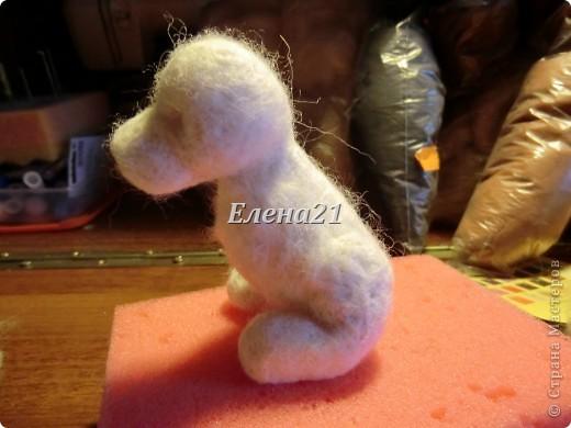 Мастер-класс Валяние (фильцевание): мастер-класс по щеночку Бигли (часть 1) Шерсть Дебют. Фото 20