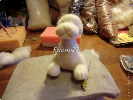 Мастер-класс Валяние (фильцевание): мастер-класс по щеночку Бигли (часть 1) Шерсть Дебют. Фото 24