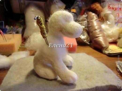 Мастер-класс Валяние (фильцевание): мастер-класс по щеночку Бигли (часть 1) Шерсть Дебют. Фото 27