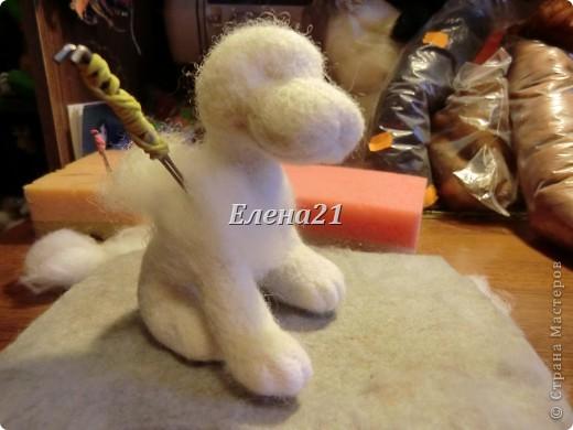 Мастер-класс Валяние (фильцевание): мастер-класс по щеночку Бигли (часть 1) Шерсть Дебют. Фото 28