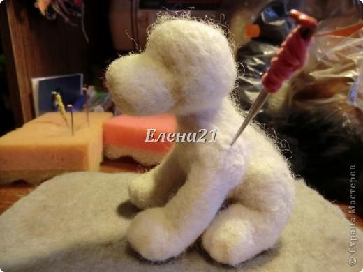 Мастер-класс Валяние (фильцевание): мастер-класс по щеночку Бигли (часть 1) Шерсть Дебют. Фото 30