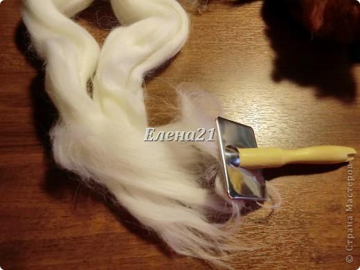 Мастер-класс Валяние (фильцевание): мастер-класс по щеночку Бигли (часть 1) Шерсть Дебют. Фото 5