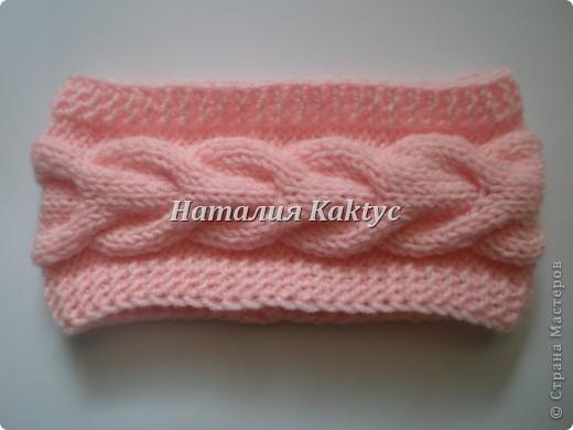 ...Вязание спицами: Повязки на голову с косой Нитки, Пряжа.  Фото 3.