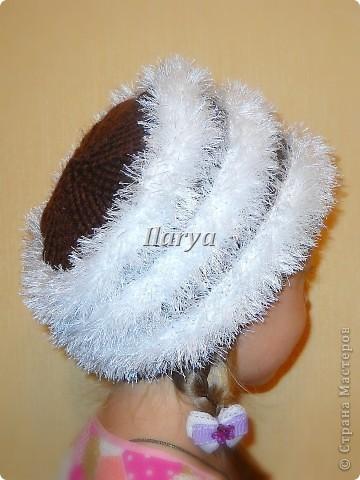 Гардероб Вязание спицами: Пушистая шапка Пряжа. Фото 6