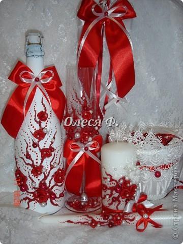 Декор предметов Лепка, Роспись, Шитьё: Свадебный комплект