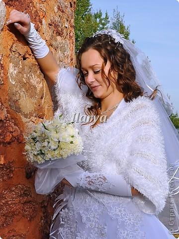 Гардероб Вязание спицами: Пушистое болеро Пряжа. Фото 10