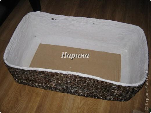 Мастер-класс Плетение: ящики из газет Бумага газетная. Фото 12