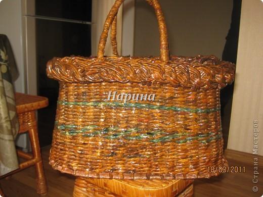 Мастер-класс Плетение: корзина из газет Бумага газетная. Фото 16