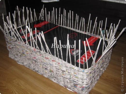Мастер-класс Плетение: ящики из газет Бумага газетная. Фото 3