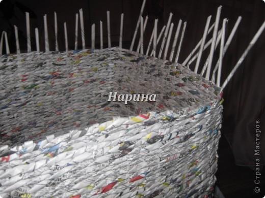 Мастер-класс Плетение: ящики из газет Бумага газетная. Фото 4