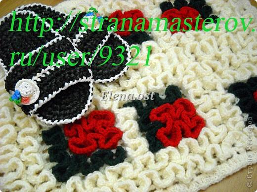 Вязания ковриков крючком круглый коврик для начинающих
