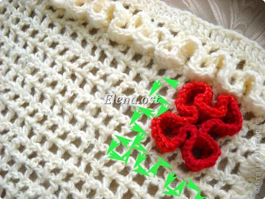 Крючком на сетке объемное вязание