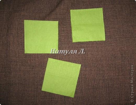 Мастер-класс, Поделка, изделие Бумагопластика: Кто спрашивал про листья из салфеток Салфетки. Фото 3