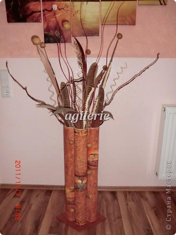 Напольная ваза из подручных материалов своими руками
