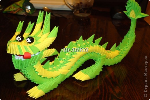 Поделка, изделие Оригами модульное: Готовимся к новому году. Бумага. Фото 3
