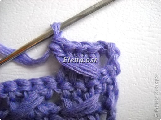 Гардероб, Мастер-класс, Презент от Голубки Вязание, Вязание крючком: Следки из прямоугольника