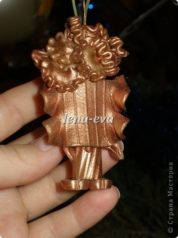 Мастер-класс, Оберег, Поделка, изделие: Вермишеливые ангелочки МК Новый год, Рождество. Фото 24