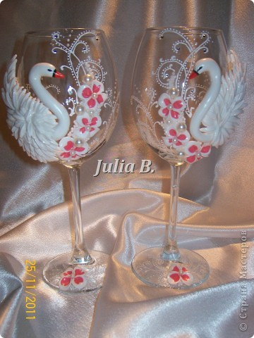 Декор предметов Лепка: ***Новый заказик...лебеди*** Пластика Свадьба. Фото 2