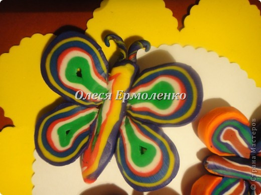 Мастер-класс, Поделка, изделие, Раннее развитие Аппликация из пластилина (+ обратная), Лепка: Бабочки любимая тема моей дочи! Пластилин Дебют. Фото 1
