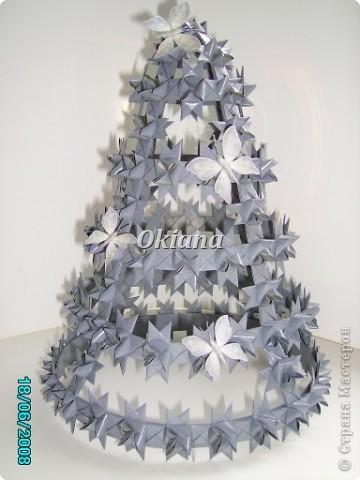 Поделка, изделие Плетение: Елочка из бумаги Бумага, Бумажные полосы Новый год. Фото 1