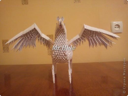 Модульное оригами пегас