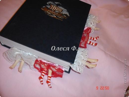 Закладка Декупаж, Лепка: Забавные закладки!!! Кружево, Ленты, Пластика. Фото 11