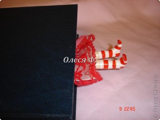 Закладка Декупаж, Лепка: Забавные закладки!!! Кружево, Ленты, Пластика. Фото 4
