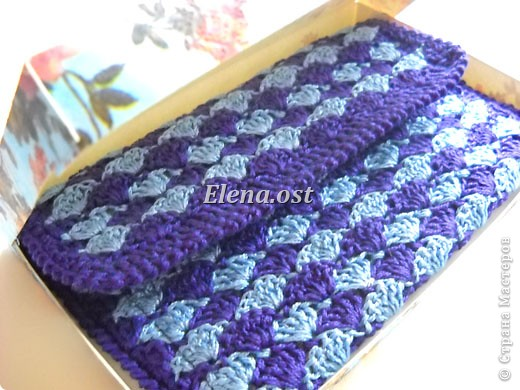 Вязание кошелька спицами 7
