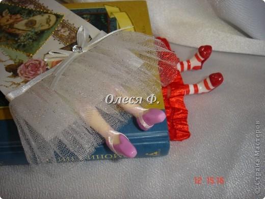 Поделка, изделие Лепка: Пополнила ассортимент....))) Закладки с ножками. Кружево, Листья, Пластика. Фото 2