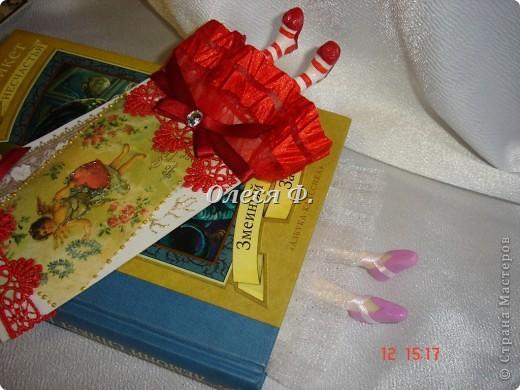 Поделка, изделие Лепка: Пополнила ассортимент....))) Закладки с ножками. Кружево, Листья, Пластика. Фото 3