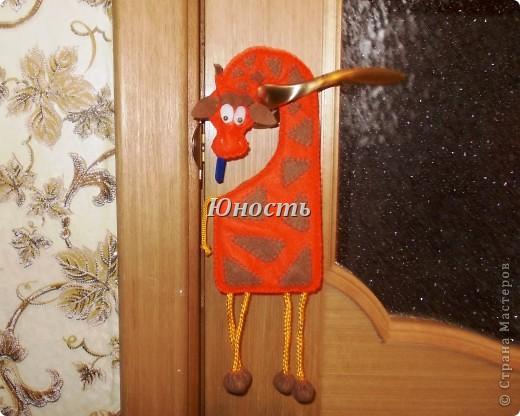 Интерьер, Мастер-класс Шитьё: Табличка на дверь ЖИРАФ МК Ткань. Фото 1