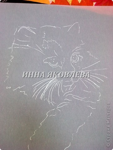 Мастер-класс Пергамано:  Используя свойства кальки , делаем животных! (МК для тех, кто знаком с техникой пергамано) Бумага. Фото 8