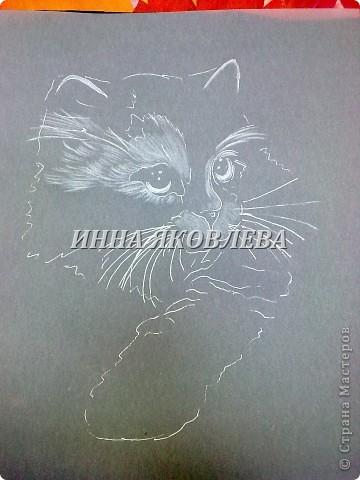 Мастер-класс Пергамано:  Используя свойства кальки , делаем животных! (МК для тех, кто знаком с техникой пергамано) Бумага. Фото 9