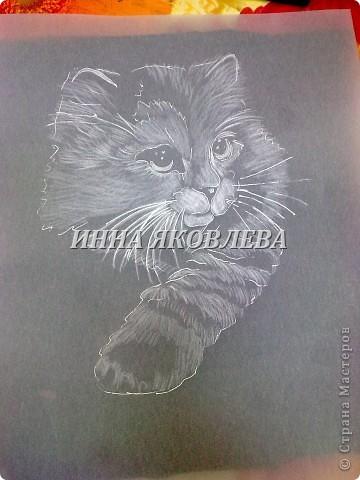 Мастер-класс Пергамано:  Используя свойства кальки , делаем животных! (МК для тех, кто знаком с техникой пергамано) Бумага. Фото 11