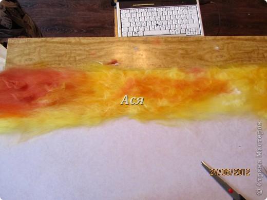 """Картина из шерсти """"Долина на закате"""" Img_1128"""