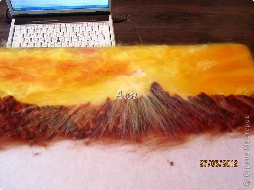 """Картина из шерсти """"Долина на закате"""" Img_1131"""