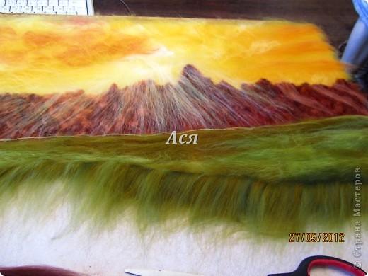 """Картина из шерсти """"Долина на закате"""" Img_1134"""