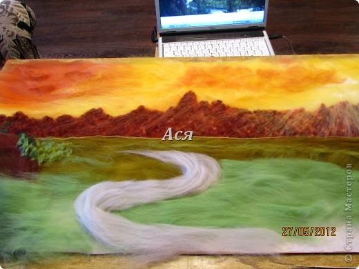 """Картина из шерсти """"Долина на закате"""" Img_1136_0"""