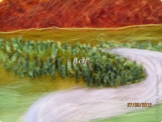 """Картина из шерсти """"Долина на закате"""" Img_1137"""