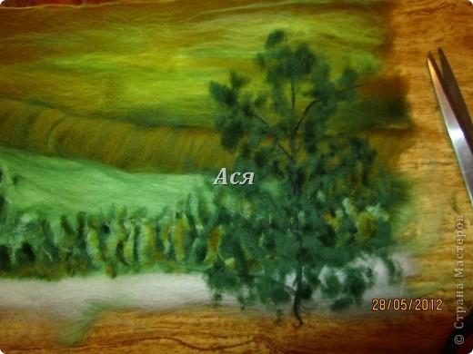 """Картина из шерсти """"Долина на закате"""" Img_1146"""