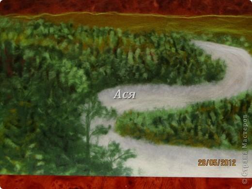 """Картина из шерсти """"Долина на закате"""" Img_1177"""