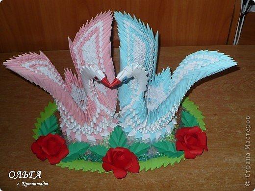 Мастер-класс Оригами модульное: ЛЕБЕДИ в подарок МК Бумага Валентинов день, День семьи, Свадьба. Фото 1