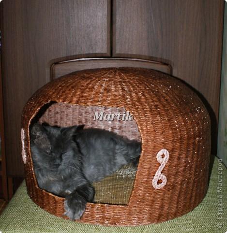 Поделка, изделие Плетение: Домик для кота Бумага. Фото 4