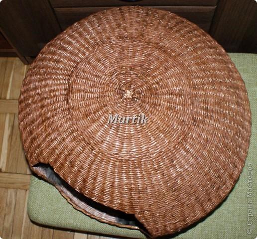 Поделка, изделие Плетение: Домик для кота Бумага. Фото 3
